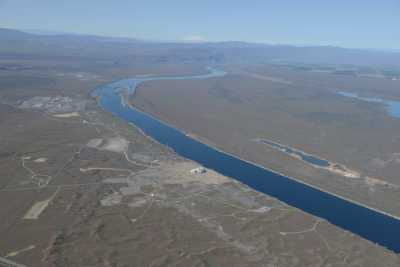 The Columbia River runs past the Hanford Site in southeastern Washington state
